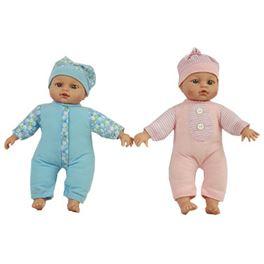 Bebé 30 cm con 12 sonidos azul o rosa - 87864074