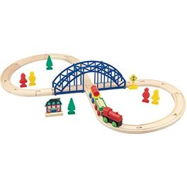 Circuito tren de madera 35 pzas - 95613309