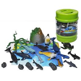 Cubo animales marinos 20 piezas - 95908231