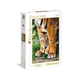 High quality 500 pz tigre de bengala con su madre - 06635046