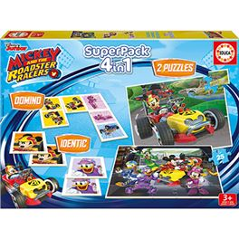 Educa superpack mickey and the roadster racers - 04017223