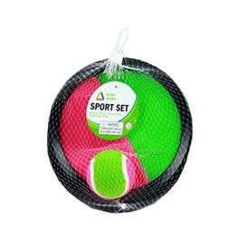 Catch ball 2 pzas 8x8 cm c/pelota 6,5 cm - 87868771