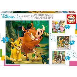 Progresivos disney animals dumbo+bambi+lion king+j - 04018104