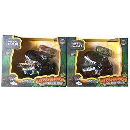 Cabeza dinosaurio lanzador coches - 87898563
