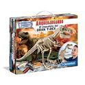 Arqueojugando el esqueleto del gran t-rex