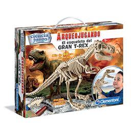 Arqueojugando el esqueleto del gran t-rex - 06655109